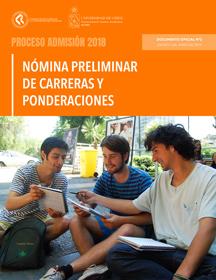 tapa Oferta Preliminar de Carreras y Ponderaciones Proceso 2018
